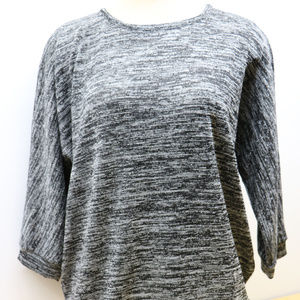 Woman's XL Black & White W/ Silver Sweater